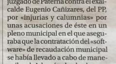 El Alcalde y la Interventora del Ayuntamiento se querellan contra el ex-alcalde Eugenio Cañizares.